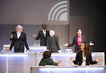 FUTUROLOGY   dramaturgy: David Greig & Dan Rebellato   music: Nick Powell   director: Graham Eatough <br>,middle row, l-r: Morag Stark, Sharon Smith, Maria Victoria Di Pace   front right: Raphaelle Bo...