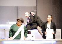 FUTUROLOGY   dramaturgy: David Greig & Dan Rebellato   music: Nick Powell   director: Graham Eatough <br>,l-r: Angela de Castro, Callum Cuthbertson, Maria Victoria Di Pace, Raphaelle Boitel,Suspect Cu...