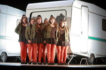 MACBETH   music: Verdi   libretto: Piave   after Shakespeare  conductor: Vladimir Jurowski   director: Richard Jones <br>,witches,Glyndebourne Festival Opera / East Sussex, England               19/05...