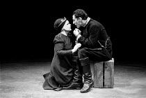 MACBETH  by Shakespeare  design: John Napier  lighting: Leo Leibovici  director: Trevor Nunn ~Judi Dench (Lady Macbeth), Ian McKellen (Macbeth),Royal Shakespeare Company   Young Vic Theatre/London  19...