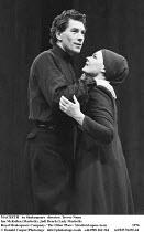 MACBETH  by Shakespeare  design: John Napier  lighting: Leo Leibovici  director: Trevor Nunn ~Ian McKellen (Macbeth), Judi Dench (Lady Macbeth),Royal Shakespeare Company / The Other Place / Stratford-...