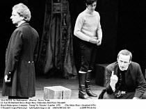 MACBETH  by Shakespeare  design: John Napier  lighting: Leo Leibovici  director: Trevor Nunn ~l-r: Ian McDiarmid (Ross), Roger Rees (Malcolm), Bob Peck (Macduff) ~Royal Shakespeare Company (RSC)   You...
