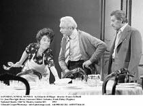 SATURDAY, SUNDAY, MONDAY   by Eduardo di Filippo   director: Franco Zeffirelli <br>,l-r: Joan Plowright (Rosa), Laurence Olivier (Antonio), Frank Finlay (Peppino),National Theatre / Old Vic Theatre, L...