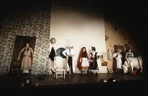 INTO THE WOODS   music & lyrics: Stephen Sondheim   book: James Lapine   ,director: Richard Jones   set design: Richard Hudson   costume design: Sue Blane <br>,left: Jacqueline Dankworth (Cinderella)...
