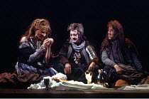 MACBETH  by Shakespeare  design: Bob Crowley  lighting: Mark Henderson  director: Adrian Noble ~l-r: Joely Richardson (Third Witch), Dilys Laye (First Witch), Susan Porrett (Second Witch)~Royal Shakes...