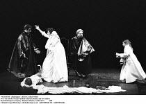 MACBETH  by Shakespeare  design: Bob Crowley  lighting: Mark Henderson  director: Adrian Noble ~IV/ii - the murder of Lady Macduff (Maureen Beattie) and her children ~Royal Shakespeare Company (RSC),...