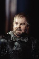 MACBETH by Shakespeare  design: Ian MacNeil  lighting: Alan Burrett  fight arranger: Malcolm Ranson  director: Adrian Noble ~Derek Jacobi (Macbeth) ~Royal Shakespeare Company (RSC), Barbican Theatre,...