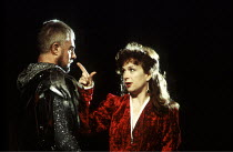 MACBETH by Shakespeare  design: Ian MacNeil  lighting: Alan Burrett  fight arranger: Malcolm Ranson  director: Adrian Noble ~Derek Jacobi (Macbeth), Cheryl Campbell (Lady Macbeth) ~Royal Shakespeare C...