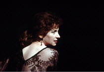 MACBETH by Shakespeare  design: Ian MacNeil  lighting: Alan Burrett  fight arranger: Malcolm Ranson  director: Adrian Noble ~Cheryl Campbell (Lady Macbeth)~Royal Shakespeare Company (RSC), Barbican Th...