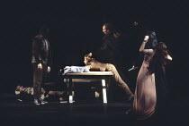 MACBETH by Shakespeare  design: Ian MacNeil  lighting: Alan Burrett  fight arranger: Malcolm Ranson  director: Adrian Noble ~IV/ii - the murder of Lady Macduff and her sons ~Royal Shakespeare Company...