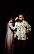 MACBETH by Shakespeare  design: Ian MacNeil  lighting: Alan Burrett  fight arranger: Malcolm Ranson  director: Adrian Noble ~Cheryl Campbell (Lady Macbeth), Derek Jacobi (Macbeth)~Royal Shakespeare Co...