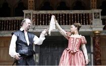 OTHELLO   by Shakespeare   director: Wilson Milam ,III/iii: Tim McInnerny (Iago), Lorraine Burroughs (Aemila),Shakespeare's Globe, London SE1                    24/05/2007        ,