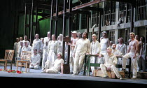 FIDELIO   by Beethoven   conductor: Antonio Pappano   director: J�rgen Flimm <br>,chorus of prisoners,The Royal Opera / Covent Garden   London WC2                      27/05/2007  ,