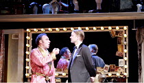 KEAN   by Jean Paul Sartre   adapted from the play by Alexander Dumas   translated by Frank Hauser   director: Adrian Noble <br>,l-r: Antony Sher (Edmund Kean), Alex Avery (Prince of Wales),Apollo The...