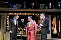 KEAN   by Jean Paul Sartre   adapted from the play by Alexander Dumas   translated by Frank Hauser   director: Adrian Noble <br>,l-r: Alex Avery (Prince of Wales), Antony Sher (Edmund Kean), Robert Ea...