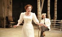Frances Barber (Arkadina), Jonathan Hyde (Dorn) in THE SEAGULL by Chekhov at the Royal Shakespeare Company (RSC), Courtyard Theatre, Stratford-upon-Avon, England  31/05/2007 ~design: Christopher Oram...
