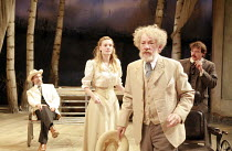 l-r: Jonathan Hyde (Dorn), Romola Garai (Nina), Ian McKellen (Sorin), Ben Meyjes (Medvedenko) in THE SEAGULL by Chekhov at the Royal Shakespeare Company (RSC), Courtyard Theatre, Stratford-upon-Avon,...