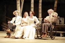 l-r: Jonathan Hyde (Dorn), Romola Garai (Nina), Frances Barber (Arkadina), Ian McKellen (Sorin) in THE SEAGULL by Chekhov at the Royal Shakespeare Company (RSC), Courtyard Theatre, Stratford-upon-Avon...