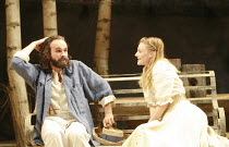 Gerald Kyd (Trigorin), Romola Garai (Nina) in THE SEAGULL by Chekhov at the Royal Shakespeare Company (RSC), Courtyard Theatre, Stratford-upon-Avon, England  31/05/2007 ~design: Christopher Oram  ligh...