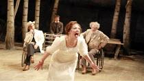 l-r: Jonathan Hyde (Dorn), Ben Meyjes (Medvedenko), Frances Barber (Arkadina), Ian McKellen (Sorin) in THE SEAGULL by Chekhov at the Royal Shakespeare Company (RSC), Courtyard Theatre, Stratford-upon-...