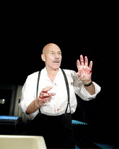 MACBETH  by Shakespeare  design: Anthony Ward  lighting: Howard Harrison  fights: Terry King  director: Rupert Goold ~Patrick Stewart (Macbeth) ~Minerva Theatre, Chichester Festival Theatre, West Suss...