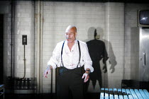 MACBETH    by Shakespeare   design: Anthony Ward   director: Rupert Goold <br>,Patrick Stewart (Macbeth)   ,Minerva Theatre / Chichester Festival Theatre / West Sussex, England  01/06/2007        ,