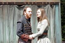 MACBETH   by Shakespeare   director: Edward Kemp <br>,I/iv: Antony Byrne (Macbeth), Sarah Woodward (Lady Macbeth),Open Air Theatre / Regent^s Park, London NW1       04/06/2007      ,