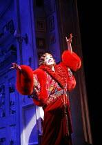 THE DROWSY CHAPERONE   music: Lisa Lambert & Greg Morrison   ,book: Bob Martin & Don McKellar   director/choreographer: Casey Nicholaw <br>,Summer Strallen (Janet Van De Graaff)   ,Novello Theatre, Lo...