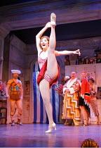 THE DROWSY CHAPERONE   ,music: Lisa Lambert & Greg Morrison   book: Bob Martin & Don McKellar   ,director/choreographer: Casey Nicholaw <br>,Summer Strallen (Janet Van De Graaff)   ,Novello Theatre, L...