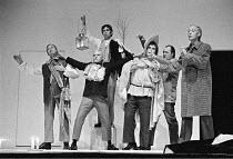 'A MIDSUMMER NIGHT'S DREAM' (Shakespeare: director - Peter Brook) David Waller (Bottom), (front) Norman Rodway (Snout), Terence Hardiman (Moonshine), Glynne Lewis (Flute), Barry Stanton (Snug), Phili...