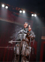 MACBETT   by Eugene Ionesco   a retelling of Shakespeare^s ^Macbeth^   ,English version by Tanya Ronder   director: Silviu Purcarete ~Mark Theodore (Wounded Soldier),Royal Shakespeare Company / Swan T...