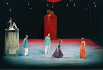 'A MIDSUMMER NIGHT'S DREAM' (Shakespeare),l-r: Alex Jennings (Oberon), Kevin Doyle (Demetrius), Toby Stephens (Lysander), (rear) Barry Lynch (Puck), ,Emma Fielding (Hermia), Emily Raymond (Helena),RSC...