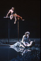 A MIDSUMMER NIGHT'S DREAM  by Shakespeare  design: Michael Levine  lighting: Jean Kalman  director: Robert Lepage   from top: Jeffery Kissoon (Oberon), Angela Laurier (Puck / Robin Goodfellow), ,Ind...
