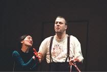 MACBETH by Shakespeare design: Stewart Laing lighting: Mimi Jordan Sherin fights arranger:Terry King director: Tim Albery ~Brid Brennan (Lady Macbeth), Roger Allam (Macbeth)~Royal Shakespeare Company...
