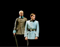 MACBETH by Shakespeare design: Stewart Laing lighting: Mimi Jordan Sherin fights arranger:Terry King director: Tim Albery ~front: Sebastian Harcombe (Malcolm)~Royal Shakespeare Company (RSC), Royal Sh...