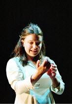 MACBETH   by Shakespeare   design: Bruno Santini   lighting: Ben Ormerod   director: James Roose-Evans ~~Cathy Owen (Lady Macbeth)~Ludlow Castle Open Air Theatre, Ludlow Festival, Shropshire, England...