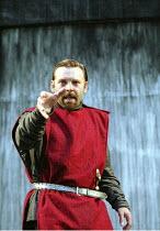 MACBETH by Shakespeare design: Bruno Santini lighting: Ben Ormerod director: James Roose-Evans ~~Peter Lindford (Macbeth)~Ludlow Castle Open Air Theatre, Ludlow Festival, Shropshire, England  26/06/20...