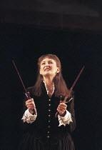 MACBETH  by Shakespeare  director: Stephen Unwin ~Hilary Lyon (Lady Macbeth) ~English Touring Theatre, Lyric Theatre Hammersmith, London W6  15/01/1996