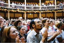 Shakespeare's Globe <br>,interior/audience   ,Shakespeare's Globe, London SE1     ,