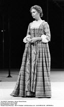 MACBETH  by Shakespeare  set design: Chris Dyer  costumes: Poppy Mitchell  lighting: Howard Eaton  director: Howard Davies ~Penelope Beaumont (Lady Macduff)~Royal Shakespeare Company (RSC)  1982