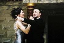 MACBETH   by Shakespeare   'Master of Play'/director: Tim Carroll <br>,Eve Best (Lady Macbeth), Jasper Britton (Macbeth),Shakespeare's Globe, London SE1   05/06/2001,