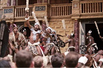 UMABATHA  The Zulu Macbeth  after Shakespeare  written & directed by Welcome Msomi ~warriors~Shakespeare's Globe, London SE1  08/1997