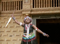 UMABATHA  The Zulu Macbeth  after Shakespeare  written & directed by Welcome Msomi ~Dieketseng Mnisi (Kamadonsela/Lady Macbeth) ~Shakespeare's Globe, London SE1  08/1997