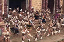 UMABATHA  The Zulu Macbeth  after Shakespeare  written & directed by Welcome Msomi ~company, warriors, dancing~Shakespeare's Globe, London SE1  08/1997