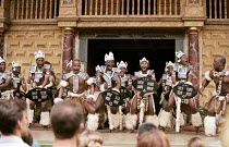 UMABATHA  The Zulu Macbeth  after Shakespeare  written & directed by Welcome Msomi ~company, warriors~Shakespeare's Globe, London SE1  08/1997
