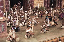 UMABATHA  The Zulu Macbeth  after Shakespeare  written & directed by Welcome Msomi ~company, warriors, full stage, dancing~Shakespeare's Globe, London SE1  08/1997