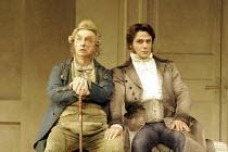 LA CENERENTOLA   by Rossini   conductor: Vladimir Jurowski   original director: Peter Hall <br>,l-r: Alessandro Corbelli (Don Magnifico), Umberto Chiummo (Alidoro)  ,Glyndebourne Festival Opera / East...