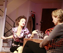 THE PAIN AND THE ITCH   by Bruce Norris   director: Dominic Cooke <br>,Andrea Riseborough (Kalina), Sara Stewart (Kelly),Jerwood Theatre Downstairs / Royal Court Theatre, London SW1               21/0...
