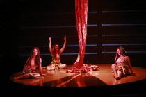 DAS RHEINGOLD   by Wagner   conductor: Anthony Negus   design: Kjell Torriset   director: Alan Privett <br>,the Rheinmaidens,l-r: Evelyn Krahe (Flosshilde), Claire Turner (Wellgunde), Judith Gardner J...