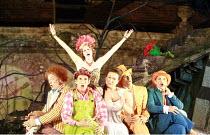 ARIADNE AUF NAXOS   music: Richard Strauss   libretto: Hugo von Hofmannsthal   conductor: Elgar Howarth   director: Martin Duncan <br> ,l-r: Andrew Slater (Truffaldino), Nicholas Sharratt (Brighella),...